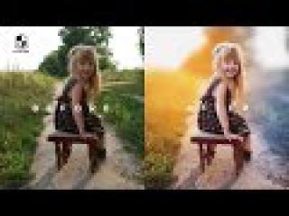 Photoshop Tutorial | How to Edit Outdoor Portrait | ( Blur Color Background )