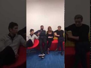 Harry Shum Jr, Isaiah Mustafa, Kat McNamara and Dominic Sherwood were live on ShadowhuntersTVs FB!