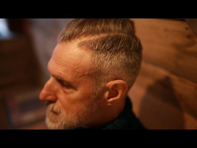 Haircut for Older Senior Men and Gentleman | Undercut Hairstyle Beard Trim 2017