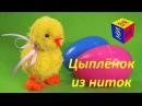 Поделки своими руками Умелые ручки цыплёнок из ниток пряжи Видео для детей
