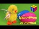 Поделки своими руками. Умелые ручки: цыплёнок из ниток (пряжи). Видео для детей