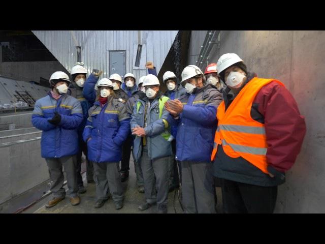 Закінчення насування Арки НБК на об`єкт Укриття 4 го енергоблоку на Чорнобильсь