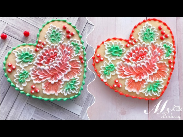 How to use two-color icing in brush embroidery technique.