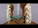 Коса из четырёх прядей. Коса из хвоста. Видео-урок.