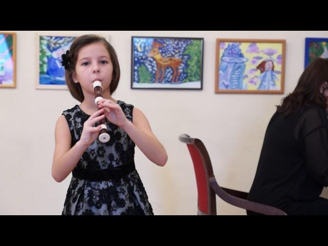 Эвелина Горх соло блокфлейта сопрано 8 лет ДШИ 1 Томск Дж Перголези Сицилиана 1 ф ...