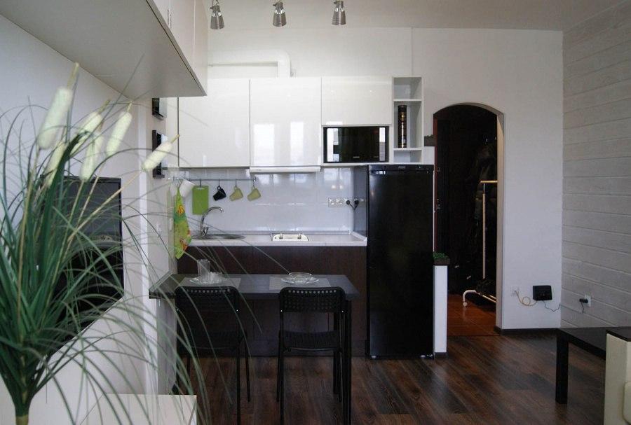 Интерьер квартиры-студии 22,5 м в Новосибирске.