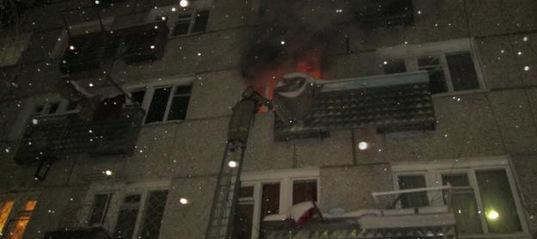Пожар в Усть-Илимске
