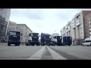 Выставка техники Scania в центре г. Новосибирска в День весны и труда
