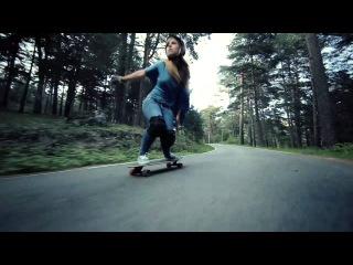Девушки на скейтах/Carving the Mountains (longboard) Экстрим, скейтбординг, лонгборд