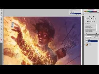 How to Paint Digitally: Burn, Part 2: Digital Speed Painting Tutorial