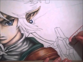 Drawing Link from the Legend of Zelda