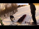 Snowboarder fails double backflip