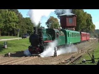 Очень душевный ролик про поездку с паровозом на музейной узкоколейке в Литве