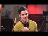 Glee. FOX Lounge: Naya Rivera and Darren Criss