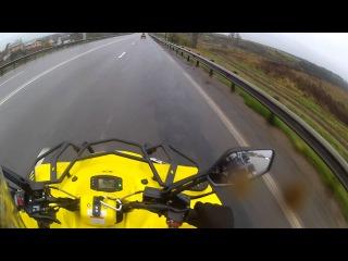 Квадроцикл Stels 800 D чуть в овраг не убрался!