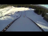 Naked Guy Jumps 60 Meters On Skis!