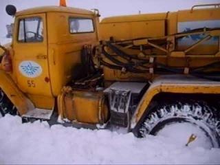 на урале 4320 сквозь снег часть 2