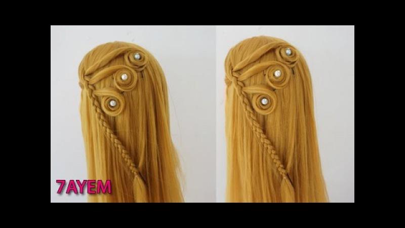 Вечерняя, свадебная прическа. Wedding prom hairstyles for long hair.7AYEM