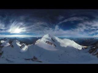 360° видео, Монблан, Италия-Франция. Часть 4
