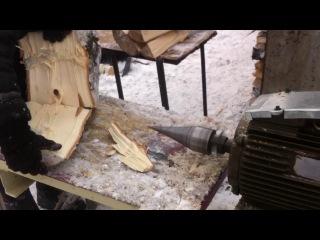 Как легко Быстро колоть дрова, Винтовой дровокол (колун)