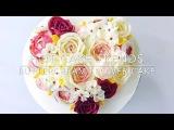 Valentine's Day buttercream flower cake - How to make by Olga Zaytseva / CAKE TRENDS 2017 3