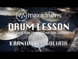 DRUM LESSON 16th Note Odd Time Signature Groove (with Meter Changes) based on Goliath by KARNIVOOL.