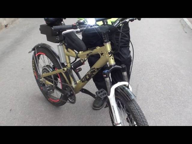 Электровелосипед своими руками 1000вт-3000вт на базе обычного велосипеда.