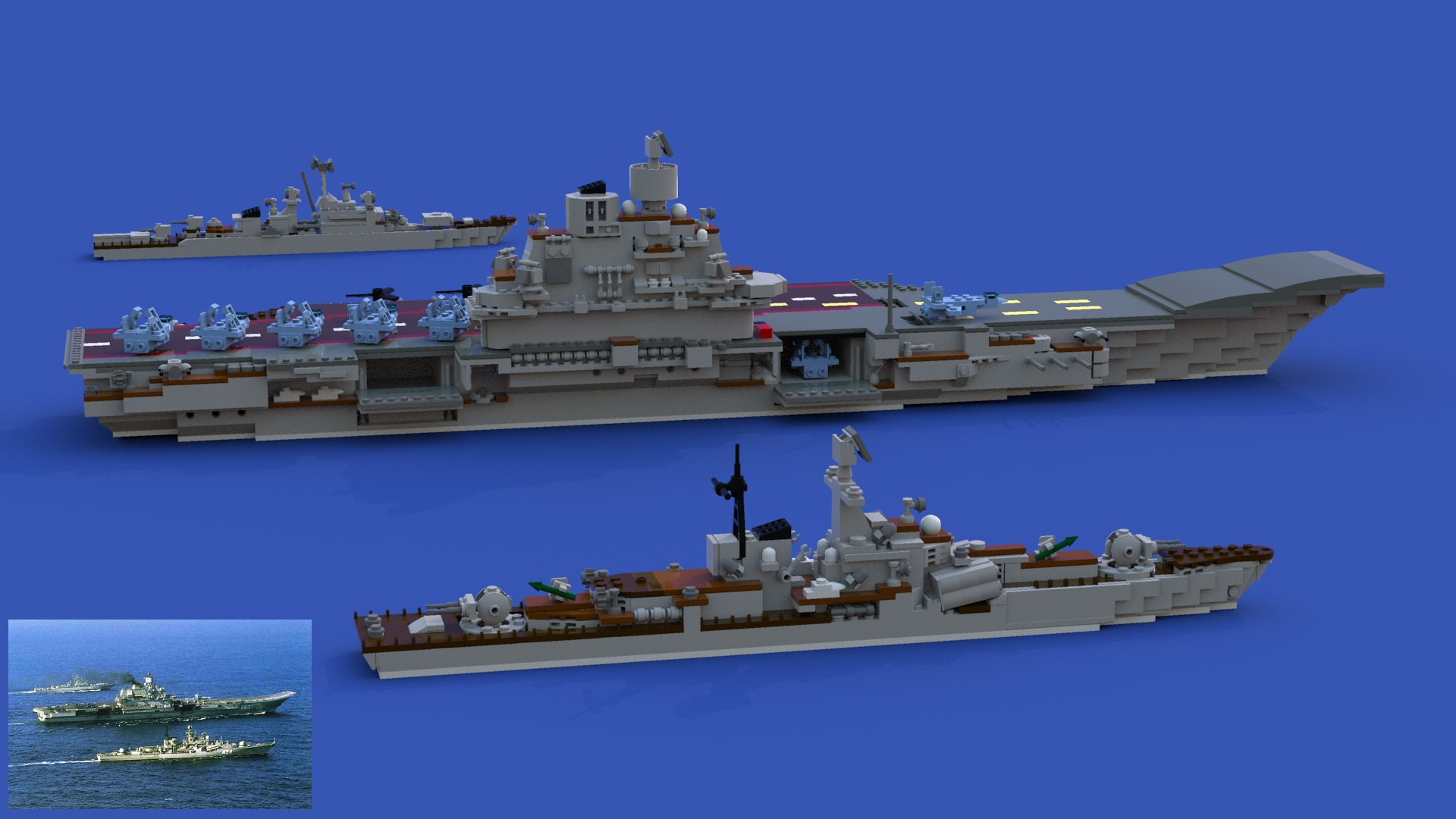 Moc Carrier Battle Group Special Lego Themes Eurobricks Forums