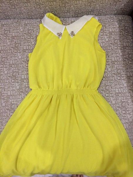 Обмен на равноценное!!!Платье желтое 44 рПерсиковое 42 р!!!Затулинс