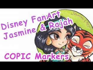 DRAWNG DISNEY ALADDIN CHARACTER : JASMINE (COPIC SPEEDPAINT)