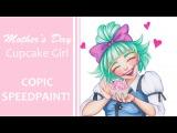 Mother's Day Cupcake Girl - SPEEDPAINT