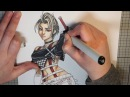 DRAWING PAINE FFX-2 (COPIC SPEEDPAINT)