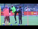 Manchester United Squad Train Ahead Of Their Europa League Away Match Against St Etienne