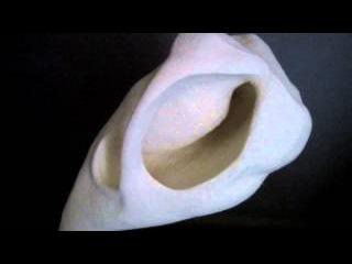 Stephanie Metz Wool Sculpture: Flesh & Bone Study #6 'Hanging Half Skull'