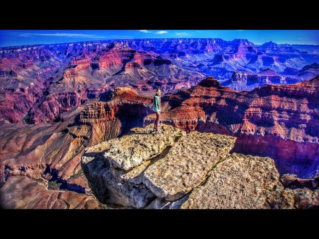 Гранд-Каньон (Великий, Большой каньон) Юг Рим АРИЗОНА США / ПОЖАР Седона / ПЕРВАЯ В МИРЕ Кругосветка 360 ВЛОГ