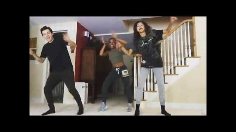 Tom holland and zendaya dancing (instagram)