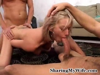 Short hair wife with nice tits makes her husband watch - 26 min