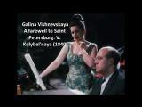 Galina Vishnevskaya Songs of Mikhail Glinka