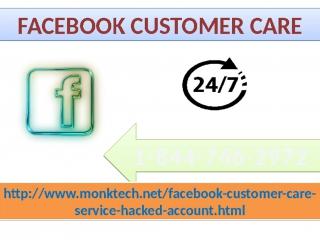 Get Instant Help On Facebook customer service 1-844-746-2972