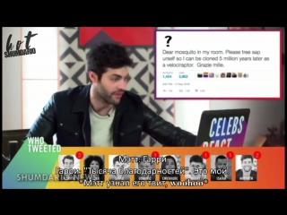 #CelebsReact | Shadowhunters Cast | RUS SUB | HS