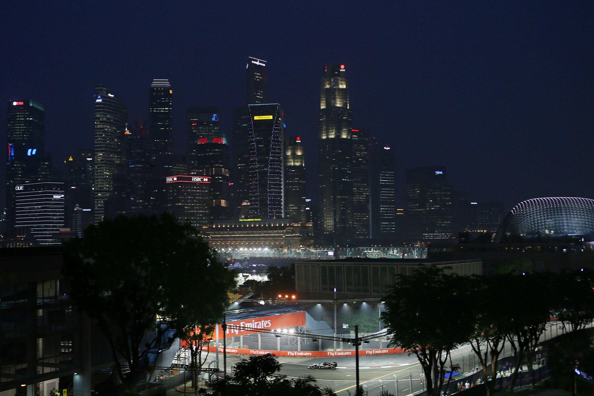 Уличная трасса Марина Бей в Сингапуре