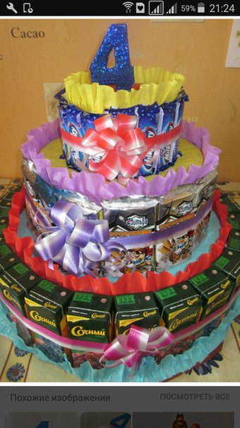 Детские торты из сладостей своими руками