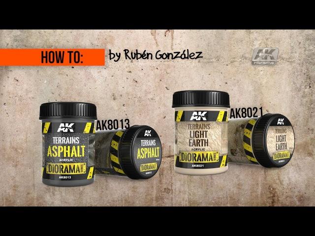 How to: AK8013 AK8021 || ASPHALT TERRAIN, PART 1: Asphalt