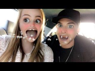 Adam Lambert on Amalia Foy's snapchat 11/15/16 (3 snaps flipped)
