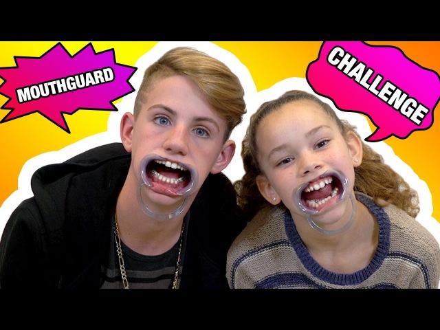 MOUTHGUARD CHALLENGE (MattyBRaps vs Olivia Haschak)