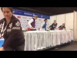 Ladies press conference - Europeans 2017 (Ostrava, Czech Republic)