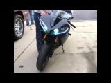 Крутая оптика на Yamaha r1 Cool headlights in moto bike