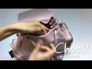 Рюкзак трансформер из текстурной кожи, нежно розовый оттенок— Choosl