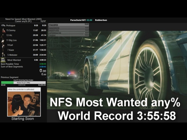 NFS Most Wanted Speedrun - any% 3:55:58