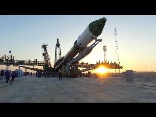 Вывоз РН «Союз-У» с ТГК «Прогресс МС-04»